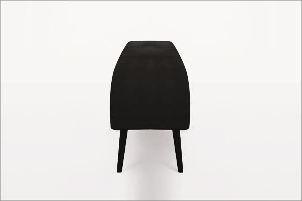 שולחן מתכת ברזל טבעי סלון קפה ספסל שחור