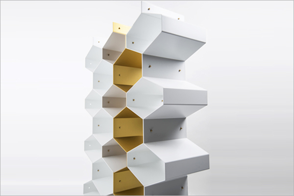 Metal beehive honeycomb divider partitution